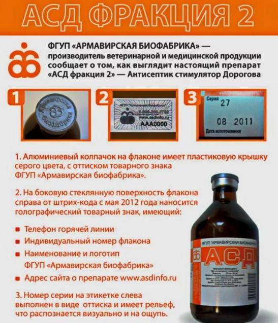Схема приема АСД-2 при гепатите С и механизм действия препарата