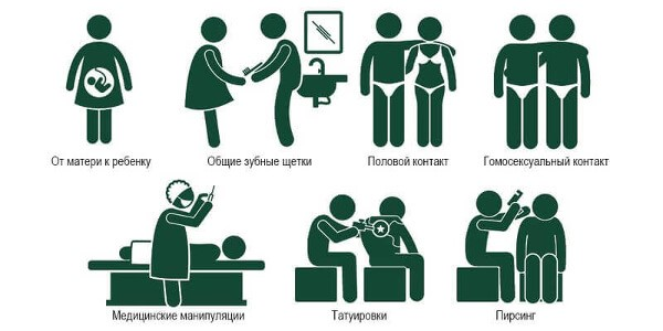 Основные пути заражения гепатитом С
