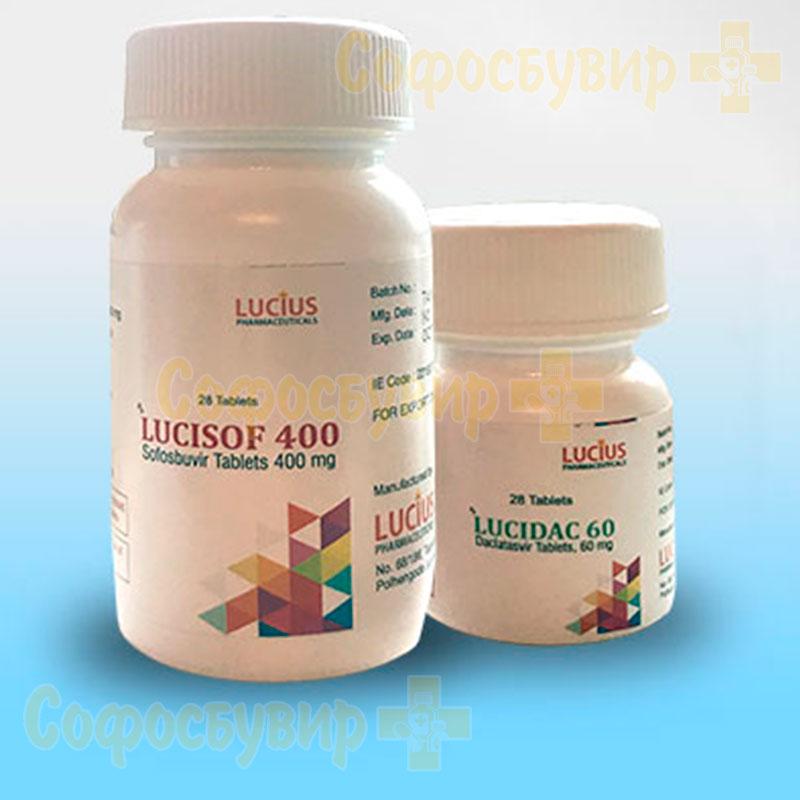 Комбинация Lucisof и Lucidac для терапии гепатита С
