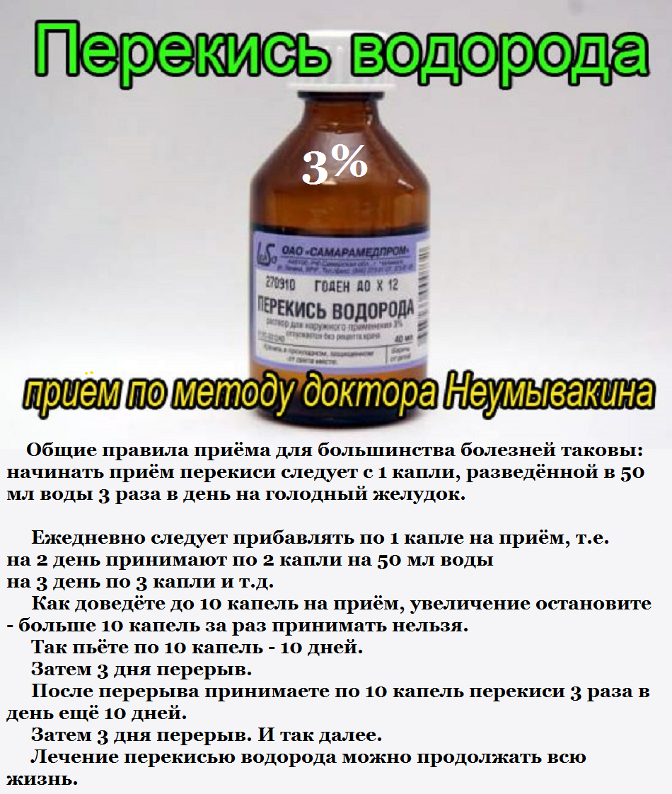 Лечение гепатита С перекисью водорода по Неумывакину