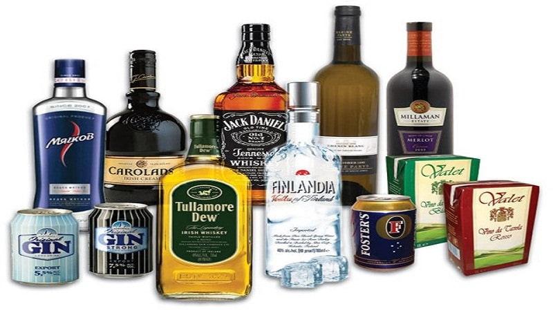 Виды и проценты алкоголя