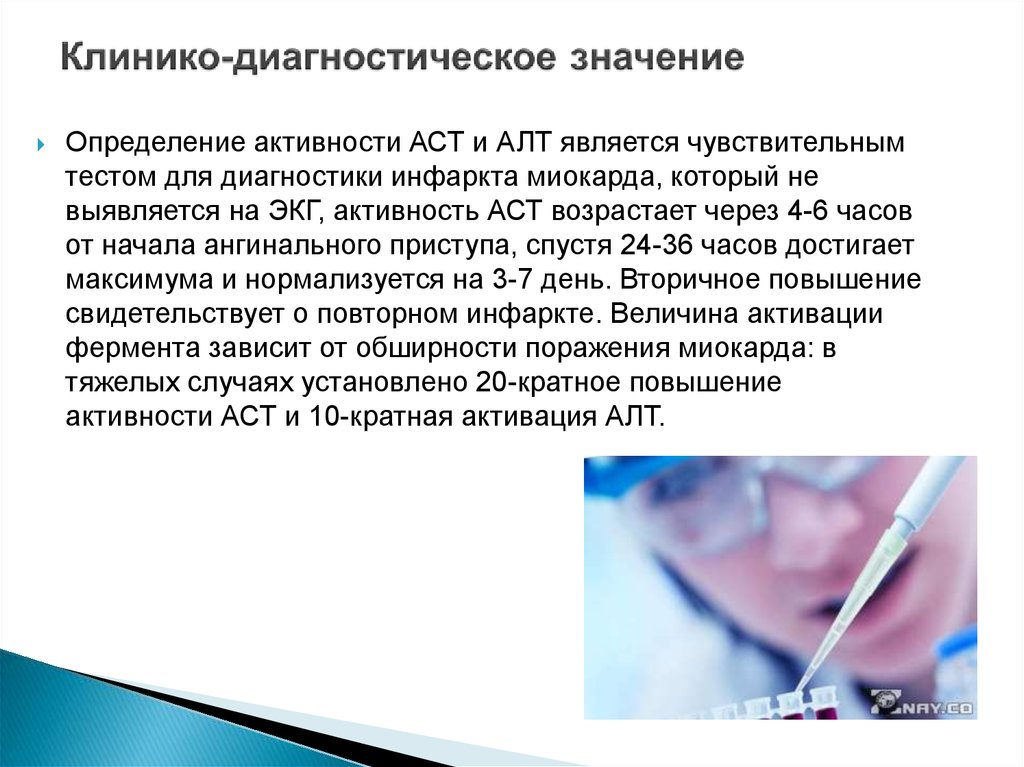 Значение определения активности АСТ и АЛТ
