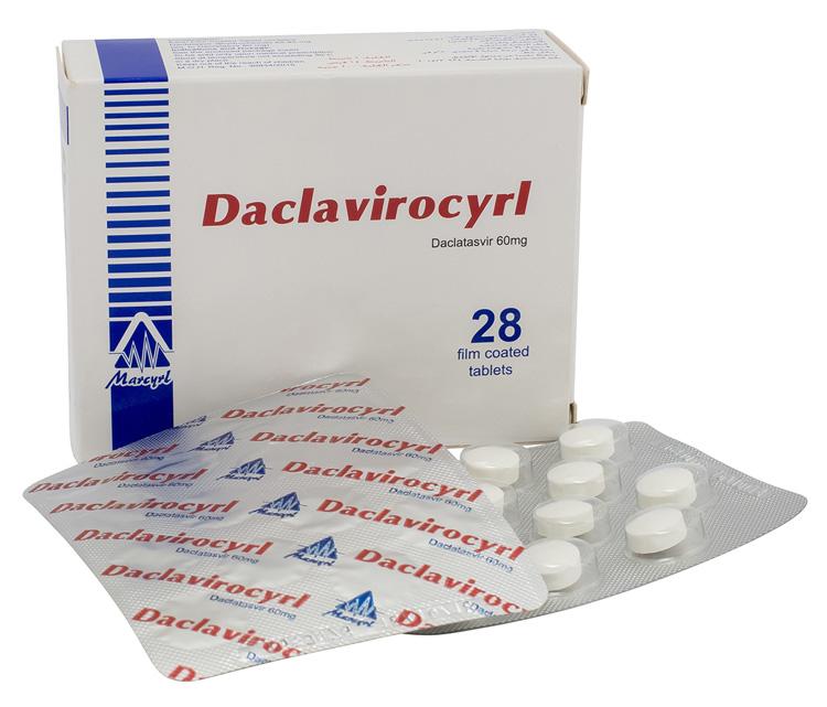 Таблетки Daclavirocyrl