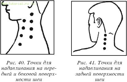 Точки при массаже шеи