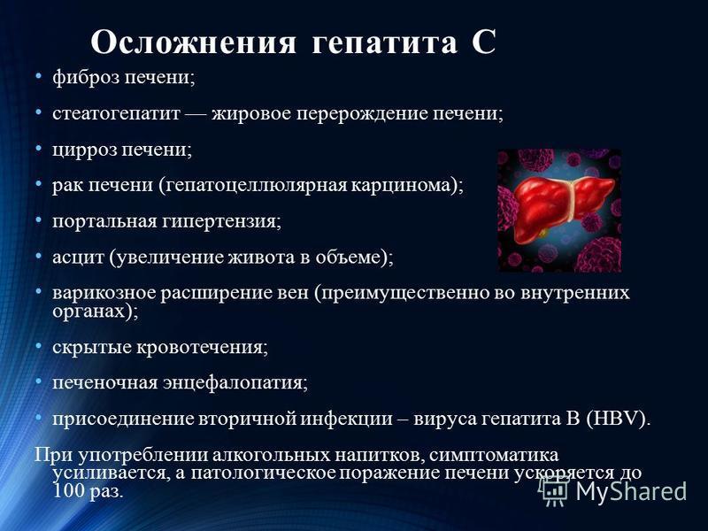 Осложнения гепатита C